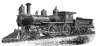 locomotive drawing from 1894 pittsburgh locomotive and car works