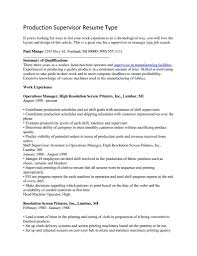 Manufacturing Experience Resume 3 Gregory L Pittman Manufacturing Production Supervisor Resume
