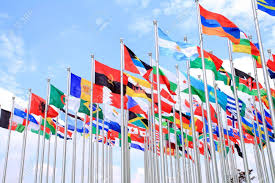 World Flag Brazil Argentina And World Flags Is Flying Stock Photo Picture