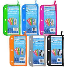 pencil pouches bulk jot 3 plastic pencil pouches at dollartree