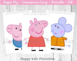 peppa pig party etsy