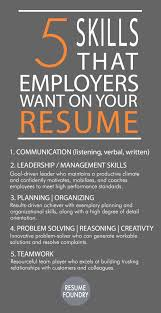 How To Update Your Resume For A Career Change 5 Skills That Employees Want On Your Resume Job Inspiration