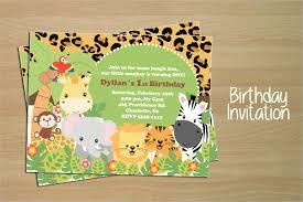 safari invitation template 14 animal birthday invitation templates