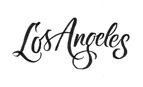 los angeles lettering on behance