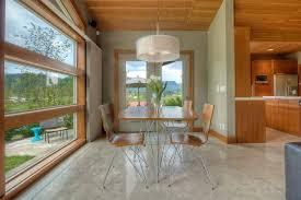light stained concrete floors staining concrete floor dining room modern with window casing