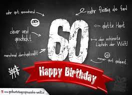 spr che zum 60 geburtstag komplimente geburtstagskarte zum 60 geburtstag happy birthday