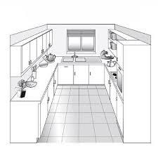 plan de cuisine en l plan cuisine en parallele 8 plans de parall le diff rentes