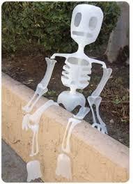 Halloween Decorations Using Milk Jugs - how to milk jug skeleton milk jugs skeletons and holidays