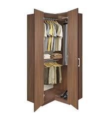 Armoires Wardrobe Bella Corner Wardrobe Corner Closet W Three Hangrods Corner