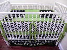 custom crib bedding set parker black chevron babybedding