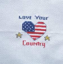 Blue And Yellow Cross Flag Frameable American Flag Cross Stitch Needlepoint Needlecraft