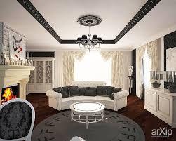каминный зал интерьер квартира дом гостиная гламур 30 50