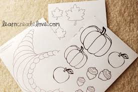 cornucopia craft w printables