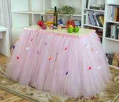 tutu baby shower decorations custom made tulle tutu wedding table skirt flora baby shower