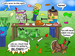 minecraft a thanksgiving with friends and foes by genesis k on
