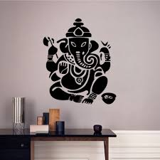 Modern Wall Stickers For Living Room Ganesha Font B Lord B Font Wall Stickers Indian Elephant Modern Home Decor Removable Vinyl Wall Jpg