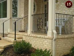 Front Porch Banisters Exterior Residential Iron Railings Custom Aluminum Railings In