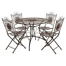 wrought iron chairs patio outdoor u0026 garden captivating wrought iron patio furniture set
