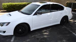 2005 subaru legacy modified youtube video plasti dip matte white subaru legacy gt