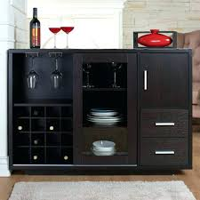 black buffet table buffet with wine rack medium size of dining