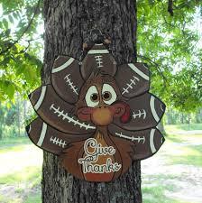 turkey football so ready to personalize turkey sign