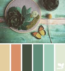 botanical hues terracotta teal and design seeds
