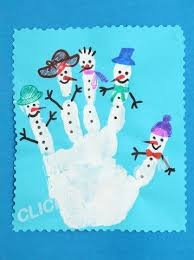 image result for handprint snowmen craft crafts