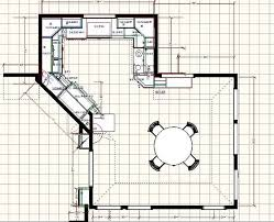 Kitchen Designs Plans Kitchen Floor Plan With Dining Area I Think The Diagonal Wall In