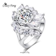 rings bridal big flowers engagement rings bridal fashion jewelry luxury
