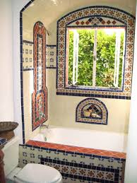 Mexican Tile Backsplash Kitchen Predominantly White Field Tile W Deco Accents El Nido