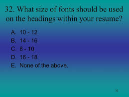 What Size Font For Resume Career Exploration Final Ppt Video Online Download