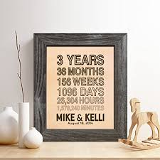 3rd year anniversary gift personalized 3rd leather anniversary gift for him or