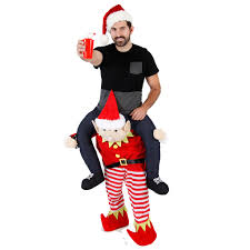 halloween sweaters christmas piggyback ride on elf costume ugly christmas sweaters