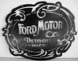 logo ford vector original ford motor co logo steel sign garage art nouveau