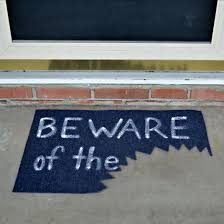 doormat funny beware of the u201d u2026 halloween doormat
