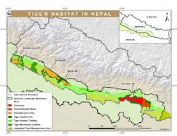 Map Of Nepal In Asia by Tiger Wwf