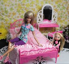 Barbie Beds Aliexpress Com Buy Free Shipping Doll Bed Furniture Accessories