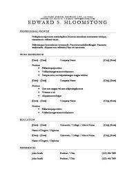 Plain Resume Template 30 Basic Resume Templates