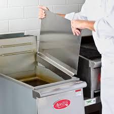 Stove Splash Guard Stainless Steel Universal Splash Guard For Deep Fryers