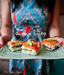 cocktail party sushi bites recipe recipes food and snacks
