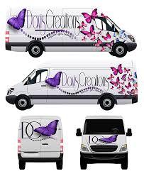free white long cargo van mockup psd template on behance