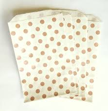 gold favor bags 25 metallic gold polk dot paper bags 5 x 7 5 wedding favor