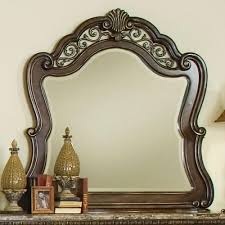 pulaski furniture birkhaven mirror with ornamental frame stuckey