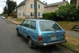old subaru hatchback old parked cars 1981 subaru gl 5 wagon