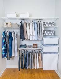 No Closet Solution by Organized Living Freedomrail Adjustable Shelving