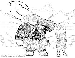 coloring pages disney moana