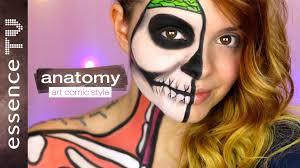 Halloween Makeup Comic Halloween Make Up Tutorial Deutsch Anatomy Art Comic Style L
