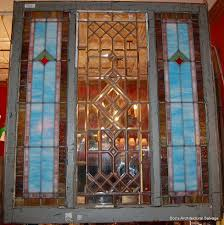Salvage Home Decor Antique Stained U0026 Beveled Glass Window Vintage Architectural