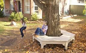Build A Round Picnic Table by Tree Bench I Really Want To Build This Under My Tree For The