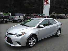 toyota corolla used for sale certified used 2014 toyota corolla for sale near keene nh vin